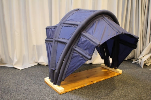 Model of inflatable tent