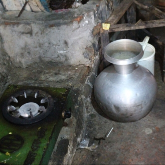Typical cooking and boiling pot